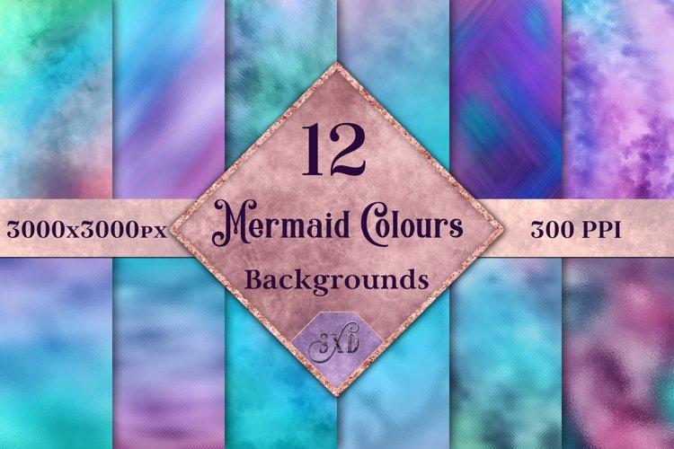 Mermaid Colours Backgrounds - 12 Image Textures Set