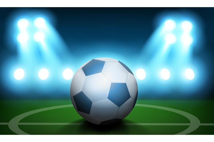 Football Day concept background, realistic style example image 1