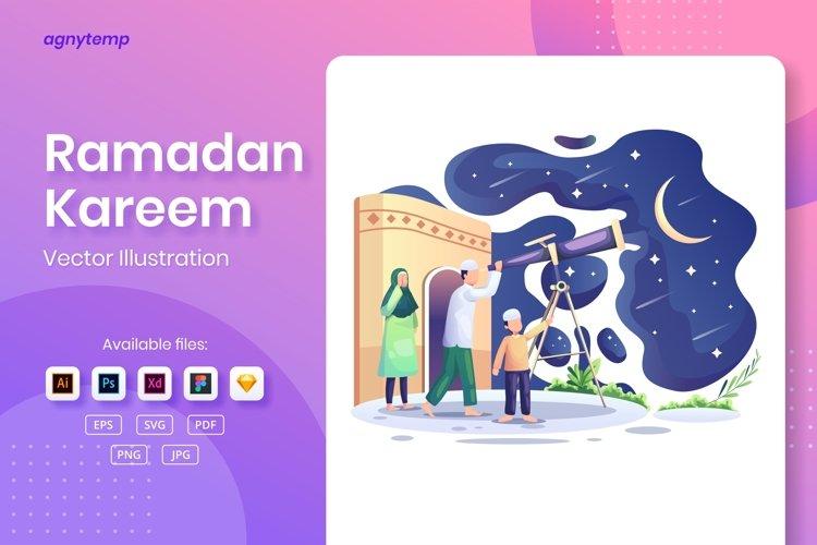 Ramadan Kareem Greeting concept flat Illustration example image 1