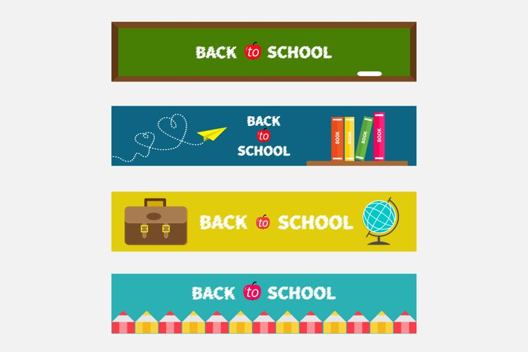 Back to school banner set example image 1