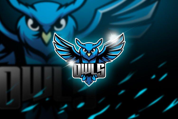 owls - Mascot & Esports Logo example image 1