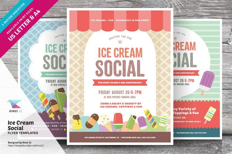 Ice Cream Social Flyer Templates example image 1