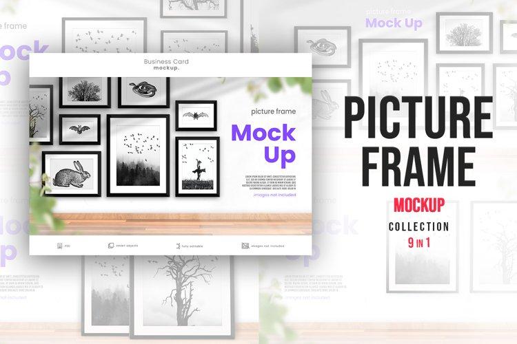 Complete Bundle- 9 Bright Picture Frame Mockup