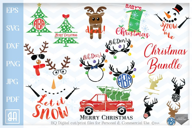 Christmas bundle SVG, Christmas designs Bundle SVG example image 1