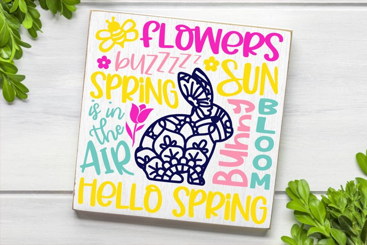 Spring Easter Subway Word Art SVG DXF PNG example image 1