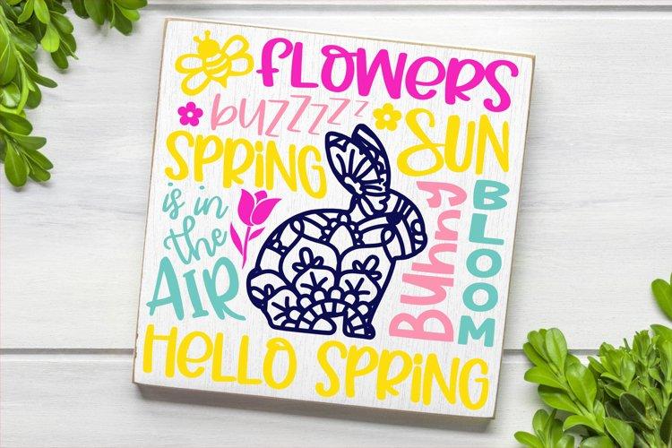 Spring Easter Subway Word Art SVG DXF PNG