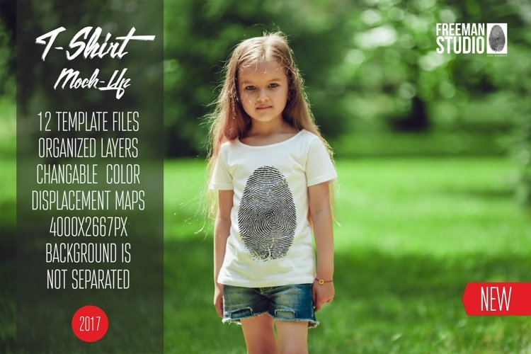Kids T-Shirt Mock-Up Vol.6 2017 example image 1