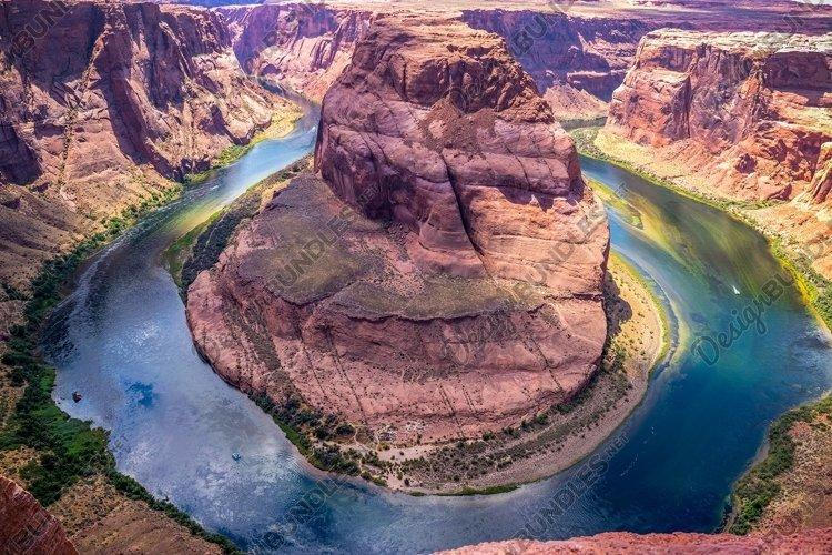 Horse Bend Shoe and Colorado River Canyon