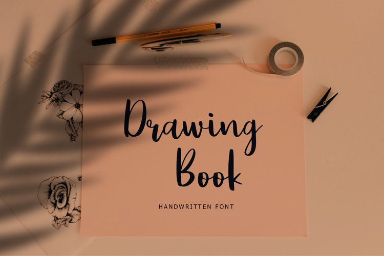 Drawing Book Modern Script Font example image 1