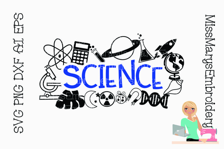 Science Title with Symbols   Science SVG   School SVG   example image 1