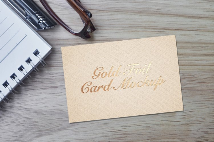 Gold Foil Card Mockup example image 1