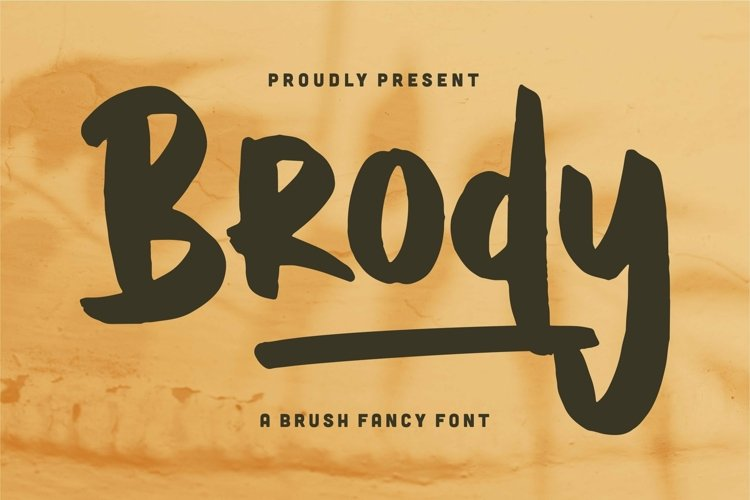 Web Font Brody - A Brush Fancy Font example image 1
