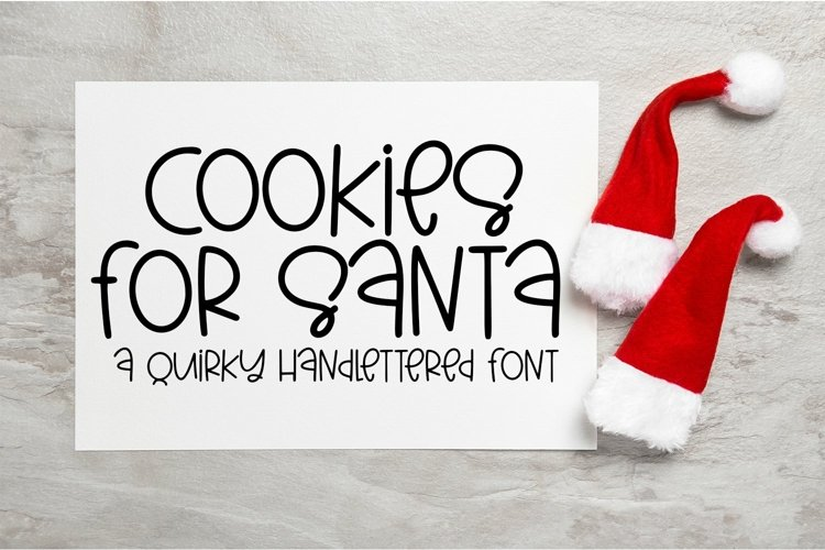 Web Font Cookies For Santa - A Quirky Hand-Lettered Font example image 1