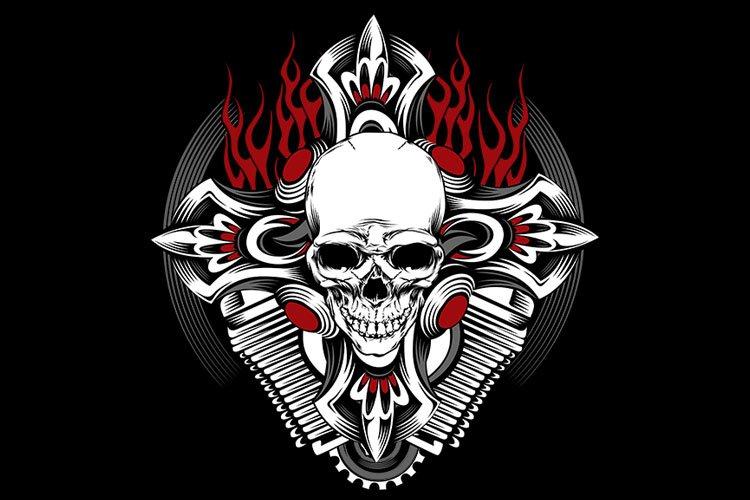 Skull Iron Cross