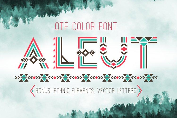 Tribal Aleut OTF color font.