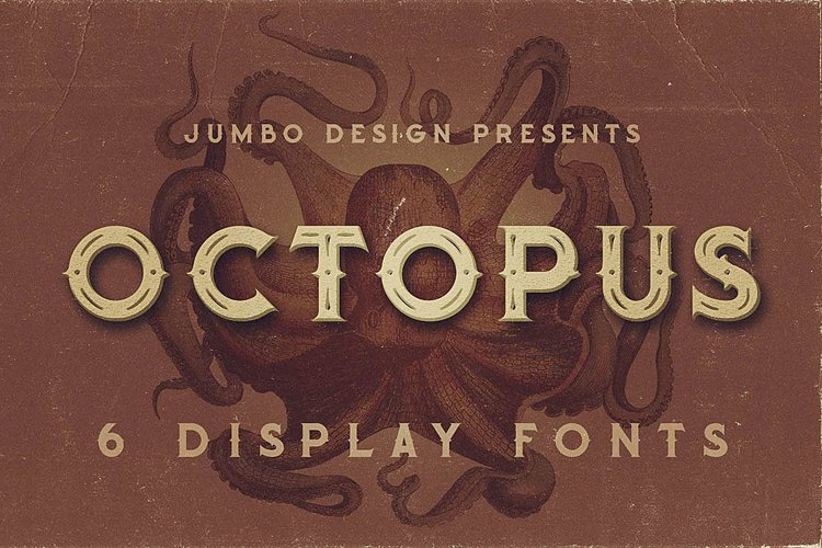 Octopus - Vintage Style Font example image 1