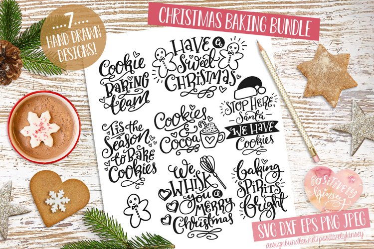 Christmas Baking SVG Bundle! 7 Cute Holiday Quote Designs example image 1