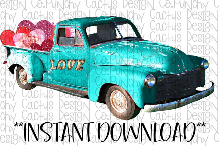 Love Truck Sublimation Download, Valentines Day