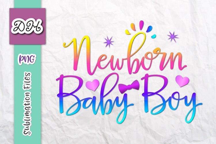 Newborn Baby Boy New Arrival Coming Home Sublimation Sign example image 1