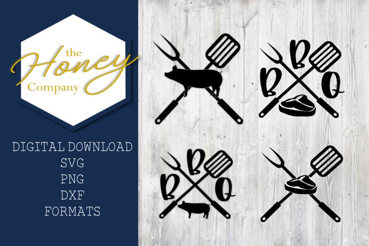 Grilling SVG PNG DXF Pork Steak Grill Fathers Day Gift example image 1