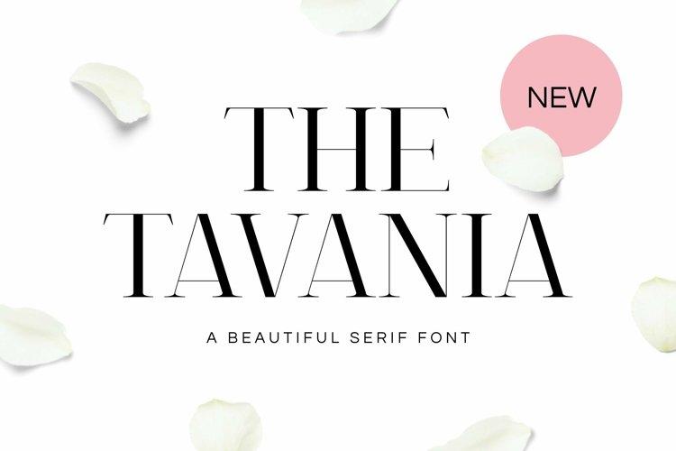 Web Font Tavania Font
