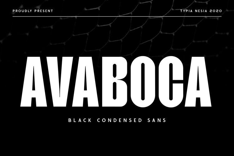 Avaboca - Sport Font example image 1