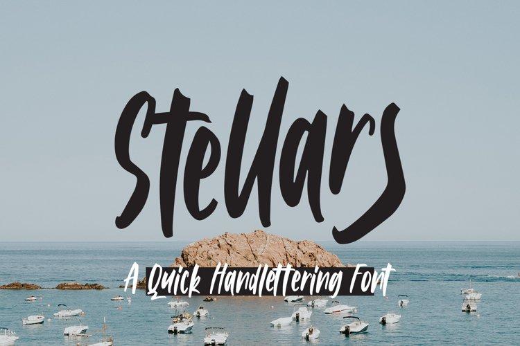 Stellars - Handlettering Font example image 1