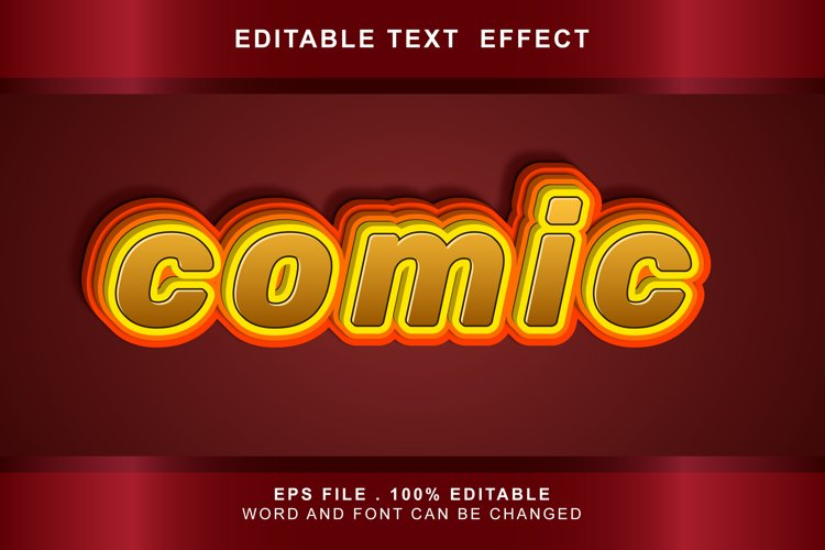 comic Text Effects editable words and fonts can be replac example image 1