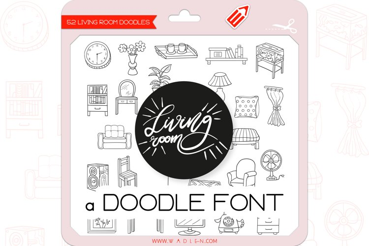 Living Room Doodles - Dingbats Font example image 1