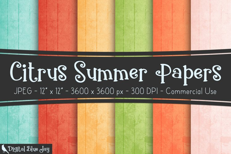 Digital Paper Textured Backgrounds - Summer Citrus example image 1