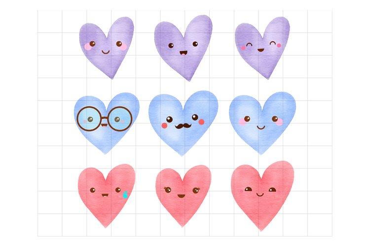 Kawaii Heart Emoticons example image 1