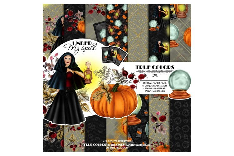 Halloween Digital Paper Pack Halloween Witch example image 1