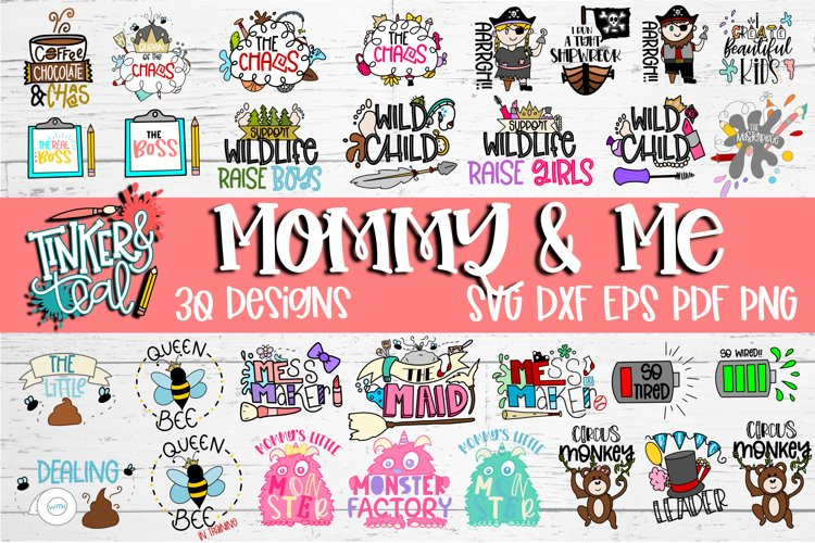 Mom and Me SVG Bundle example image 1