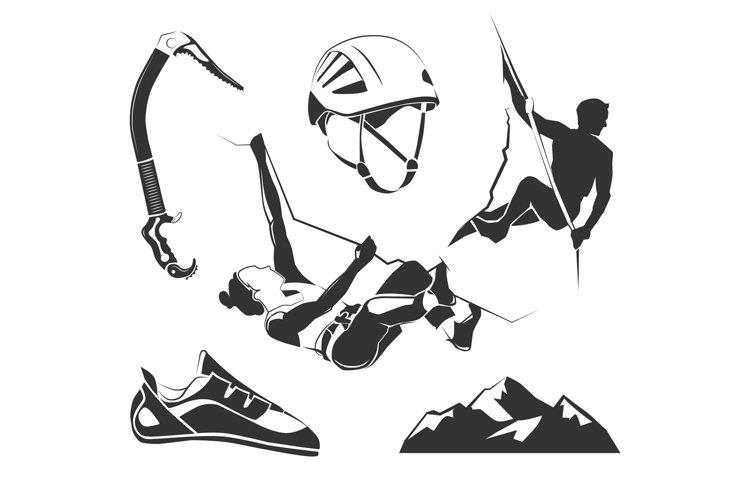 Vector elements for climbing, trekking, hiking, mountaineeri example image 1