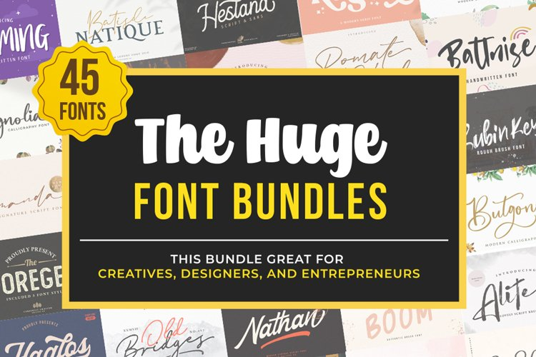 The Huge Font Bundle Collections example image 1