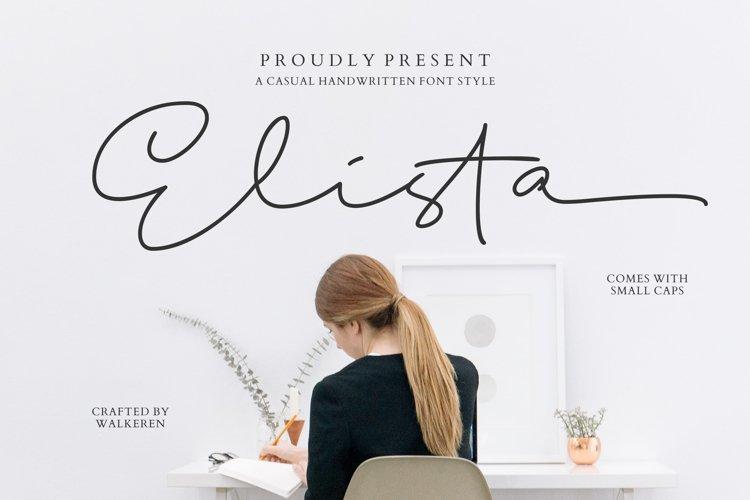 Elista - A Casual Handwritten Font