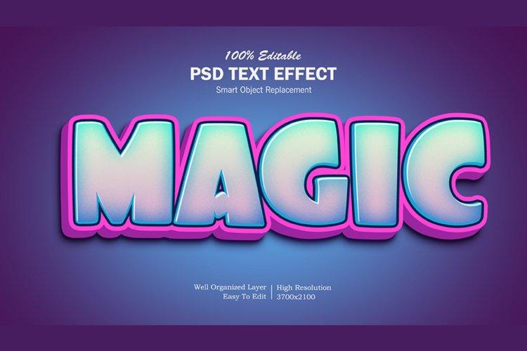Magic 3d Pop Up Editable PSD Text Effect