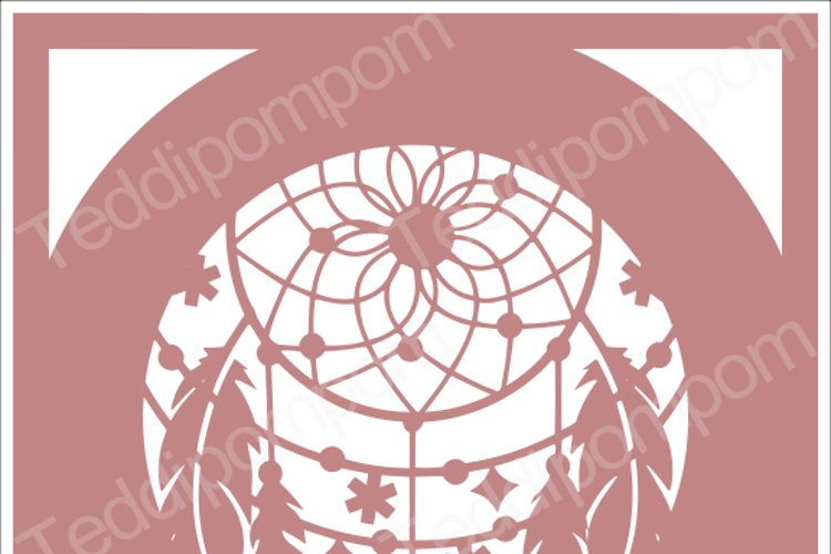 DREAMCATCHER SVG Papercut Frame, cricut silhouette svg Papercutting, Card Making,Digital Upload example image 1