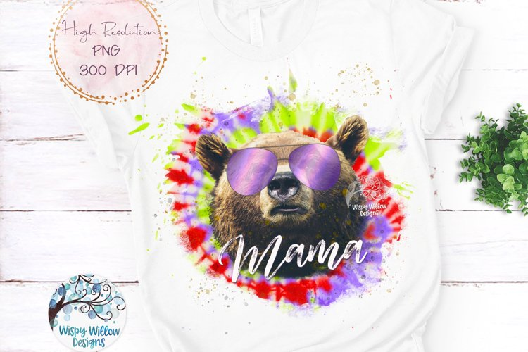 Mama Bear Tie Dye | Mama Bear Sublimation PNG example image 1