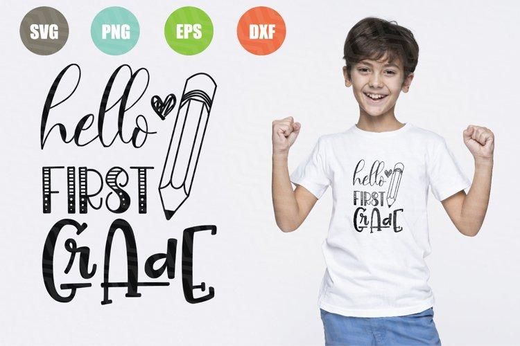 Hello First Grade SVG File