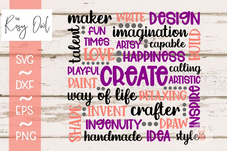Create Word Art Cloud SVG PNG DXF EPS