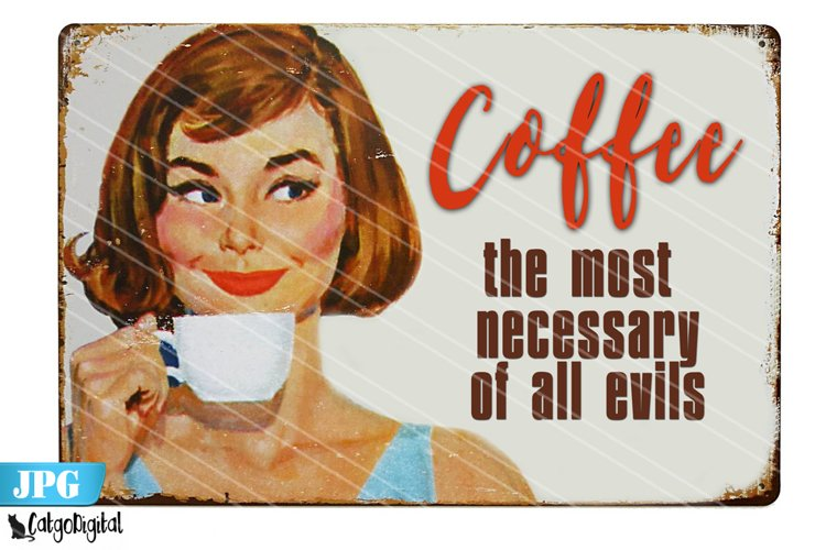 Retro Coffee Poster Digital Poster Vintage Printable Poster