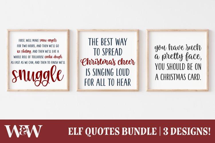 Buddy The Elf Quotes SVG Bundle  Christmas Movie SVG