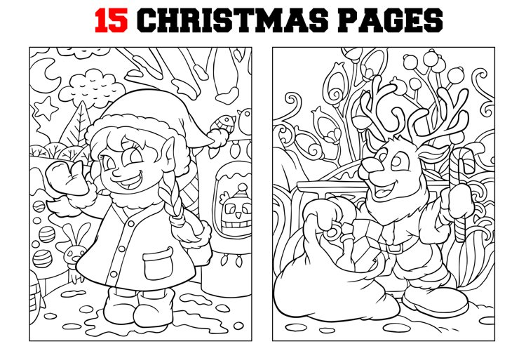 Coloring Pages For Kids - 15 Christmas Pages Vol. 2