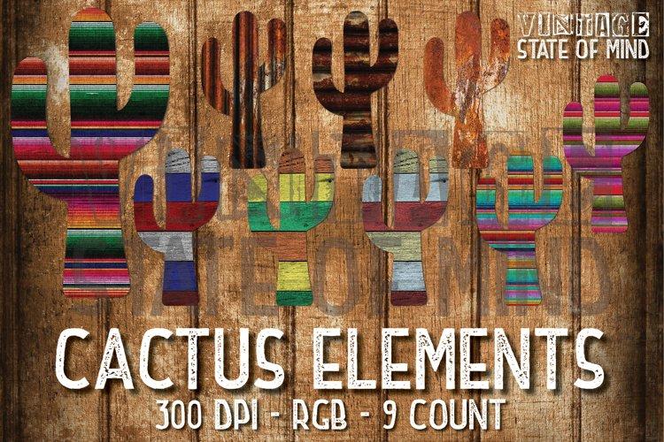 Rusty Serape Cactus Sublimation Graphics example image 1