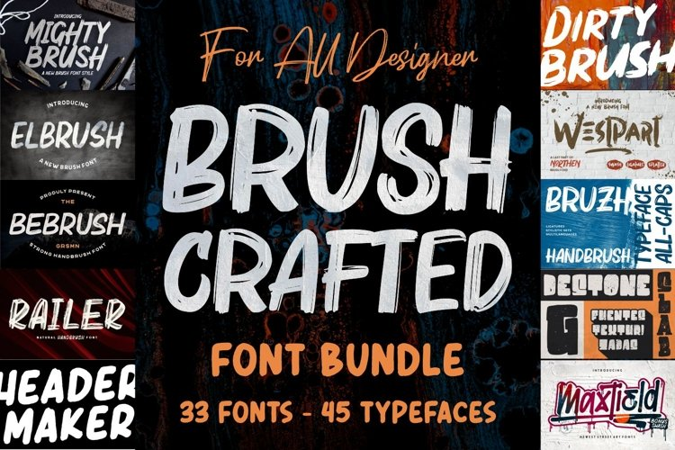 BRUSH CRAFTED Font Bundles example image 1