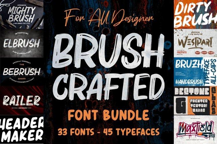 BRUSH CRAFTED Font Bundles