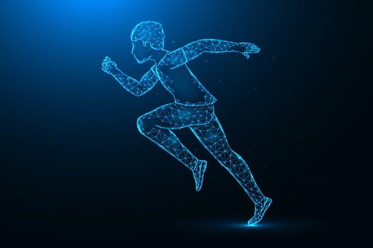 Running man low poly art