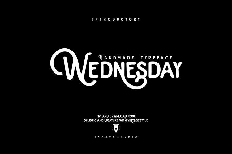 Wednesday Typeface example image 1