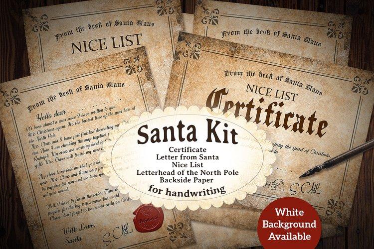 Vintage Santa Kit - Printable - for Handwriting